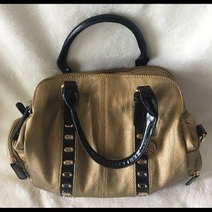 👜BIG BUDDHA gold and black handbag